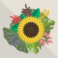 3d bloemen papercraft
