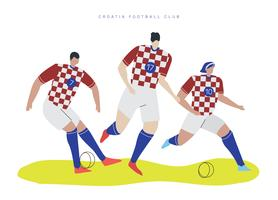 Croatia World Cup Soccer Player Falt Vector Character Illustration