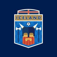 Iceland World Cup Soccer Badges  vector
