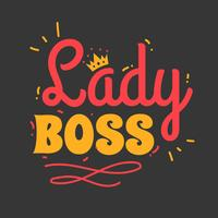 Lady Boss typografie