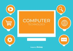 Computing Technology Vector achtergrond