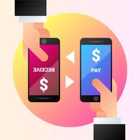 Mobile Payments With Smartphone Illustration vector