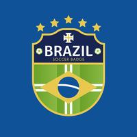 Brazil World Cup Soccer Badges  vector
