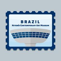 Beautiful Brasil Postage Stamp Vectors