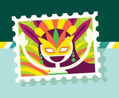 Brasil Postage Stamp Illustration