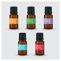 Photorealistic Style Essential Oil Flaskor