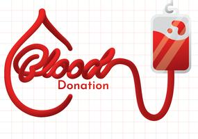 Blood Drive Campaign Vector