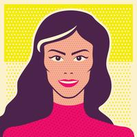 Woman pop art