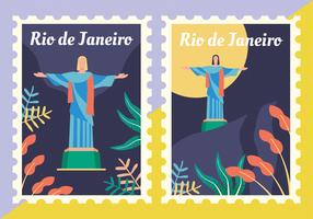 Pacote de vetores de selos postais do Brasil