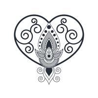 Einzigartige Henna-Kunst-Vektoren