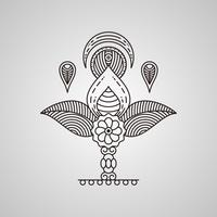 Vecteurs d'art de henné uniques