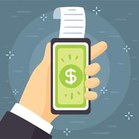 Pay-with-phone-concept-vector