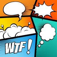 Comic-Strip-Hintergrund mit Sprechblasen und Ausdrücken
