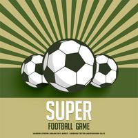 retro-stijl voetbal spel achtergrond