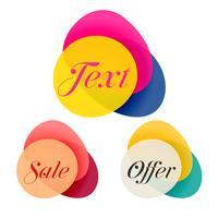 kleurrijke set van abstracte verkoop banners