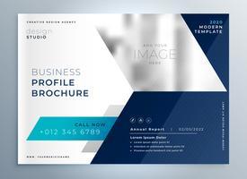 modern blå geometrisk broschyrpresentationsmall