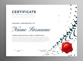 abstract diploma certificate of appreciation