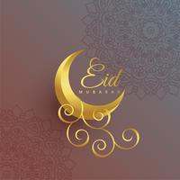 Premium Eid Mubarak kreatives Mondfest Design