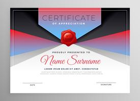stylish abstract business certificate design
