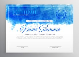 abstraktes blaues Diplom-Zertifikatdesign