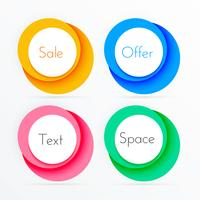 coloful circle frames with copyspace