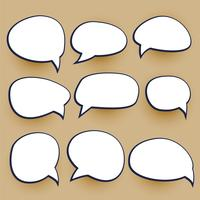 comic chat bubbles elements set
