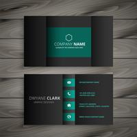 professional dark business card design