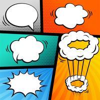 conjunto de história em quadrinhos com bolhas de bate-papo