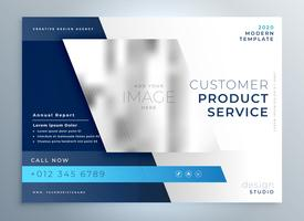 Diseño de color azul negocios folleto plantilla de presentación