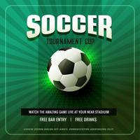 green soccer background flyer design