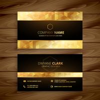 conception de cartes de visite de luxe doré