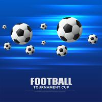 fond de coupe de tournoi de football bleu brillant