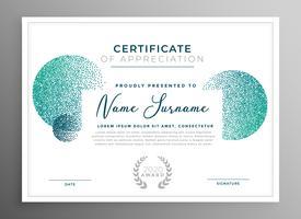 modernt kreativt certifikat för uppskattningsmall