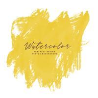 Acuarela de trazo de pincel pintura amarilla con espacio de texto