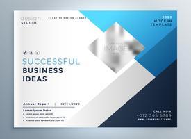 Presentación de plantilla de folleto de negocio azul moderno folleto