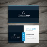 professional blue dark business card design