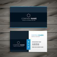 design professionale blu scuro biglietto da visita