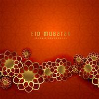 belo design de eid mubarak com padrão islâmico