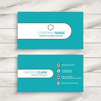clean modern blue business card