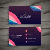 modern dark purple abstract business card