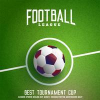 fotboll på grönt gräs bakgrund