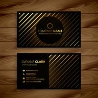 luxury golden line dark business card