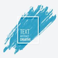 blauwe penseelstreek met copyspace