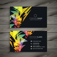 abstract dark business card design
