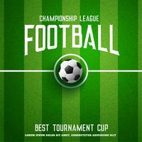 voetbal achtergrond met groen gras