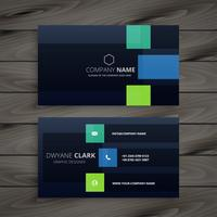 modern company dark business card design