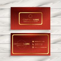 luxury red company business card design