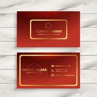 lyxigt rött företagskortdesign