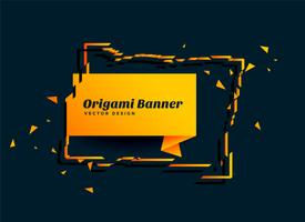 abstract origamidocument bannerontwerp