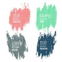 fyra akvarell banner med textutrymme
